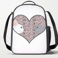 Cat lovers in pinky love heart11吋手提電腦背囊