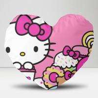 hello kitty20 x 18寸细毛绒心形抱枕