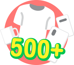 500+ Customizable <br>Products
