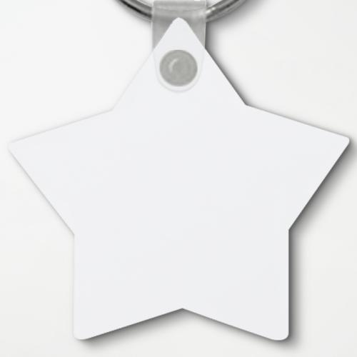 Custom Star Shape Keychain | Add Colors, Pictures, Texts | Kusdom