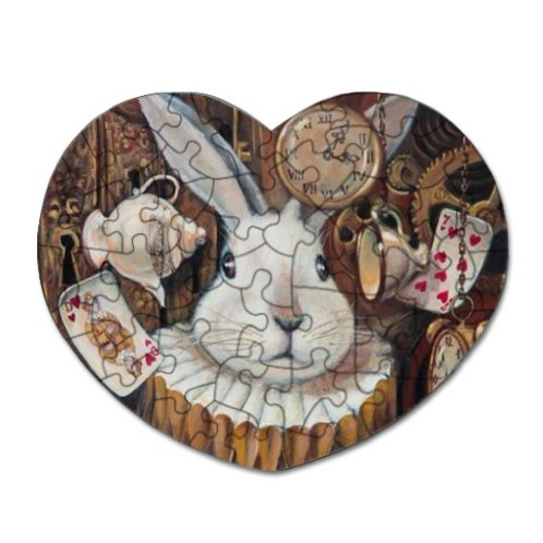 Alice(white rabbi)Heart Shaped Puzzle(52Pieces)