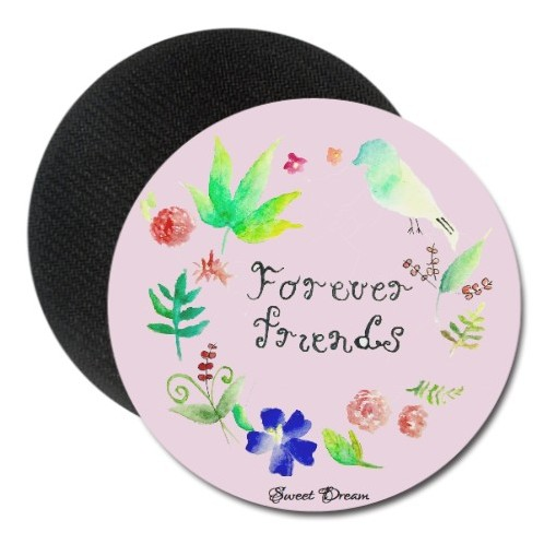 Forever friends - Round Rubber Coaster