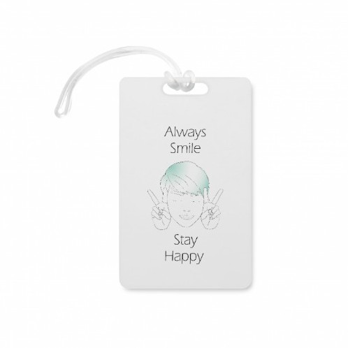 Smiling boy illustration Luggage Tag