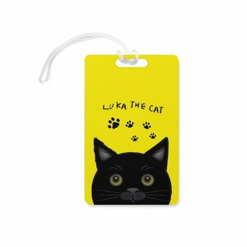 黑貓魯卡LUKA THE CAT(Rectangle Shaped Luggage Tag)