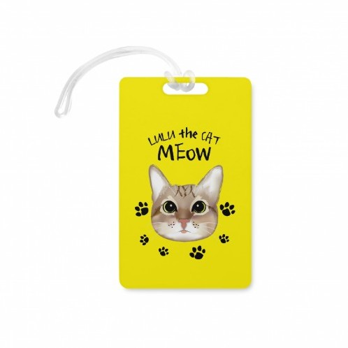 LULU the CAT(Rectangle Shaped Luggage Tag)