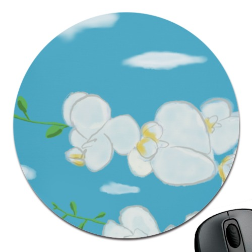 Flower Round Mouse Pad